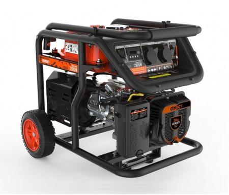 POWER: 2.200/2000 W, motor gasolina GENERGY O.H.V. 4T, chasis tubular, refrigeración por aire, protección de aceite.