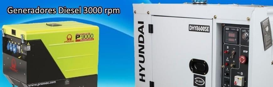 ▷ Generadores Eléctricos Diésel 3000 rpm silenciosos mejor precio