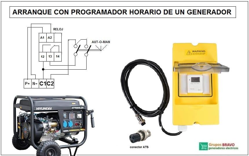 kit aranque generador horario